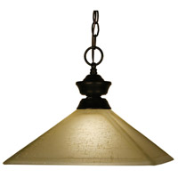 Signature 1 Light 13 inch Bronze Pendant Ceiling Light in Mission Golden Linen