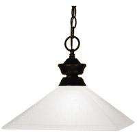 Z-Lite 100701BRZ-MMO13 Flatwater 1 Light 13 inch Bronze Pendant Ceiling Light in 7 Matte Opal Glass