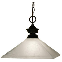 Signature 1 Light 13 inch Bronze Pendant Ceiling Light in Mission White Linen