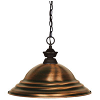 Z-Lite 100701BRZ-SAC Shark 1 Light 16 inch Bronze Island Light Ceiling Light in 15.75, Stepped Antique Copper