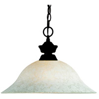 Signature 1 Light 16 inch Bronze Pendant Ceiling Light in White Mottle