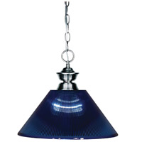 Shark 1 Light 14 inch Gun Metal Island Light Ceiling Light in Acrylic Dark Blue, 14.25