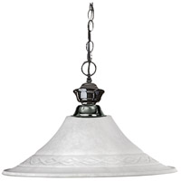 Z-Lite 100701GM-FWM16 Shark 1 Light 16 inch Gun Metal Pendant Ceiling Light in White Mottle Flared