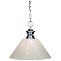 Shark 1 Light 14 inch Gun Metal Island Light Ceiling Light in White Plastic