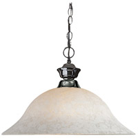 Signature 1 Light 16 inch Gun Metal Pendant Ceiling Light in White Mottle