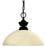 Windsor 1 Light 14 inch Matte Black Pendant Ceiling Light in Golden Mottle Dome