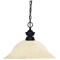 Shark 1 Light 16 inch Matte Black Island/Billiard Ceiling Light in Golden Mottle