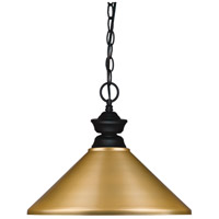 Z-Lite 100701MB-MSG Pendant Lights 1 Light 14 inch Matte Black Island/Billiard Ceiling Light