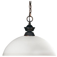 Riviera 1 Light 14 inch Olde Bronze Billiard/Pendant Ceiling Light in Matte Opal Dome