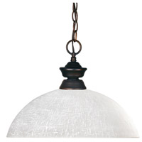 Riviera 1 Light 14 inch Olde Bronze Billiard/Pendant Ceiling Light in White Linen Dome