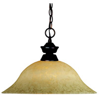 Signature 1 Light 16 inch Olde Bronze Pendant Ceiling Light in Golden Mottle