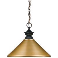 Z-Lite 100701OB-MSG Riviera 1 Light 16 inch Olde Bronze Island/Billiard Ceiling Light