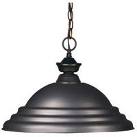 Z-Lite 100701OB-SOB Riviera 1 Light 16 inch Olde Bronze Pendant Ceiling Light in Stepped Olde Bronze