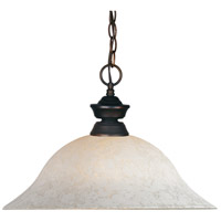 Signature 1 Light 16 inch Olde Bronze Pendant Ceiling Light in White Mottle