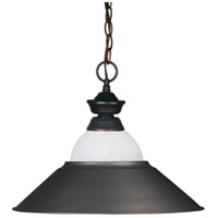 Z-Lite 100701OB-WMLOB Signature 1 Light 16 inch Olde Bronze Pendant Ceiling Light in Both  photo thumbnail