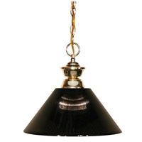 Z-Lite 100701PB-ARS Shark 1 Light 14 inch Polished Brass Island Light Ceiling Light in 14.25, Acrylic Smoke