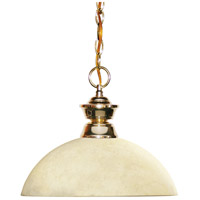 Z-Lite 100701PB-DGM14 Shark 1 Light 14 inch Polished Brass Island Light Ceiling Light in 13.5, Golden Mottle Dome