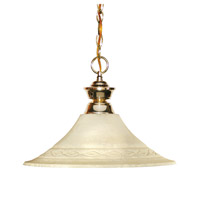 Z-Lite Shark 1 Light Pendant in Polished Brass 100701PB-FGM16