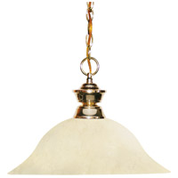 Z-Lite 100701PB-GM16 Shark 1 Light 16 inch Polished Brass Island Light Ceiling Light in Golden Mottle