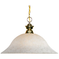 Signature 1 Light 16 inch Polished Brass Pendant Ceiling Light in White Mottle
