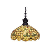 Z-Lite Signature 1 Light Pendant in Sand Black 100701SB-C14