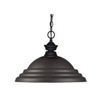 Z-Lite Cabaret 1 Light Pendant in Sand Black 100701SB-SSB