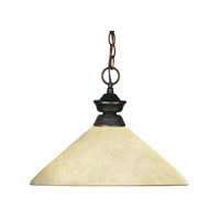 Z-Lite Crown 1 Light Billiard/Pendant in Weathered Bronze 100701WB-AGM14 photo thumbnail