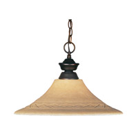 Z-Lite Signature 1 Light Pendant in Weathered Bronze 100701WB-GF16 photo thumbnail
