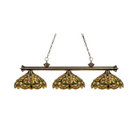 Z-Lite English Ivy 3 Light Billiard in Antique Brass 100703AB-C14