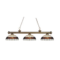 Z-Lite Grande 3 Light Billiard/Island in Antique Brass 100703AB-F14-1