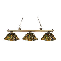 Z-Lite Sherwood 3 Light Island/Billiard in Antique Brass 100703AB-R14A photo thumbnail