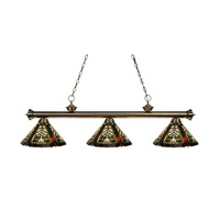 Z-Lite Tiffany 3 Light Billiard in Antique Brass 100703AB-Z14-16 photo thumbnail