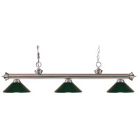 Z-Lite 100703BN-MDG Riviera 3 Light 53 inch Brushed Nickel Island Light Ceiling Light