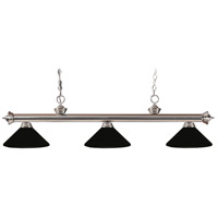 Z-Lite 100703BN-MMB Riviera 3 Light 53 inch Brushed Nickel Island Light Ceiling Light