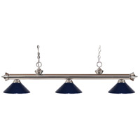 Z-Lite 100703BN-MNB Riviera 3 Light 53 inch Brushed Nickel Island Light Ceiling Light