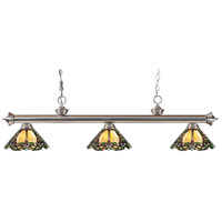 Z-Lite 100703BN-Z14-37 Riviera 3 Light 53 inch Brushed Nickel Island Light Ceiling Light