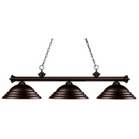 Riviera 3 Light 56 inch Bronze Billiard Ceiling Light in Stepped Bronze