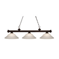 Z-Lite Riviera Bronze 3 Light Billiard/Island in Bronze 100703BRZ-SW16