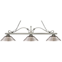 Z-Lite 114-3AS-SBN Melrose 3 Light 60 inch Antique Silver Island/Billiard Ceiling Light in Stepped Brushed Nickel