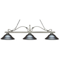 Z-Lite 114-3AS-SGM Melrose 3 Light 60 inch Antique Silver Island Light Ceiling Light in Stepped Gun Metal