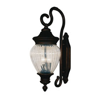 Z-Lite Devonshire 3 Light Outdoor Wall Light in Black Gold 1176B-BG