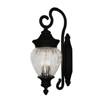 Z-Lite Devonshire 3 Light Outdoor Wall Light in Black 1176B-BK