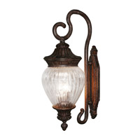 Z-Lite Devonshire 3 Light Outdoor Wall Light in Weathered Bronze 1176B-WB