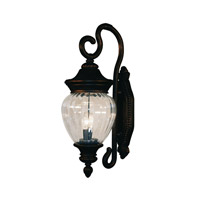 Z-Lite Devonshire 2 Light Outdoor Wall Light in Black Gold 1176M-BG