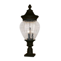 Z-Lite Devonshire 3 Light Post Light in Black Gold 1176PHB-BG-PM