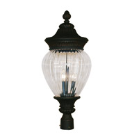 Z-Lite Devonshire 3 Light Post Light in Black Gold 1176PHB-BG