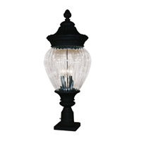 Z-Lite Devonshire 3 Light Post Light in Black 1176PHB-BK-PM