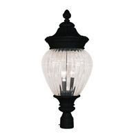 Z-Lite Devonshire 3 Light Post Light in Black 1176PHB-BK