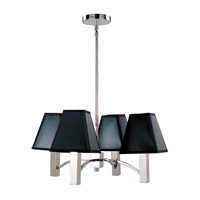 Z-Lite Pyramid 4 Light Chandelier in Polished Stainless Steel 1201-4