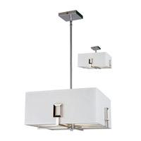 Z-Lite Quadrate 3 Light Pendant in Polished Stainless Steel 1202-15C